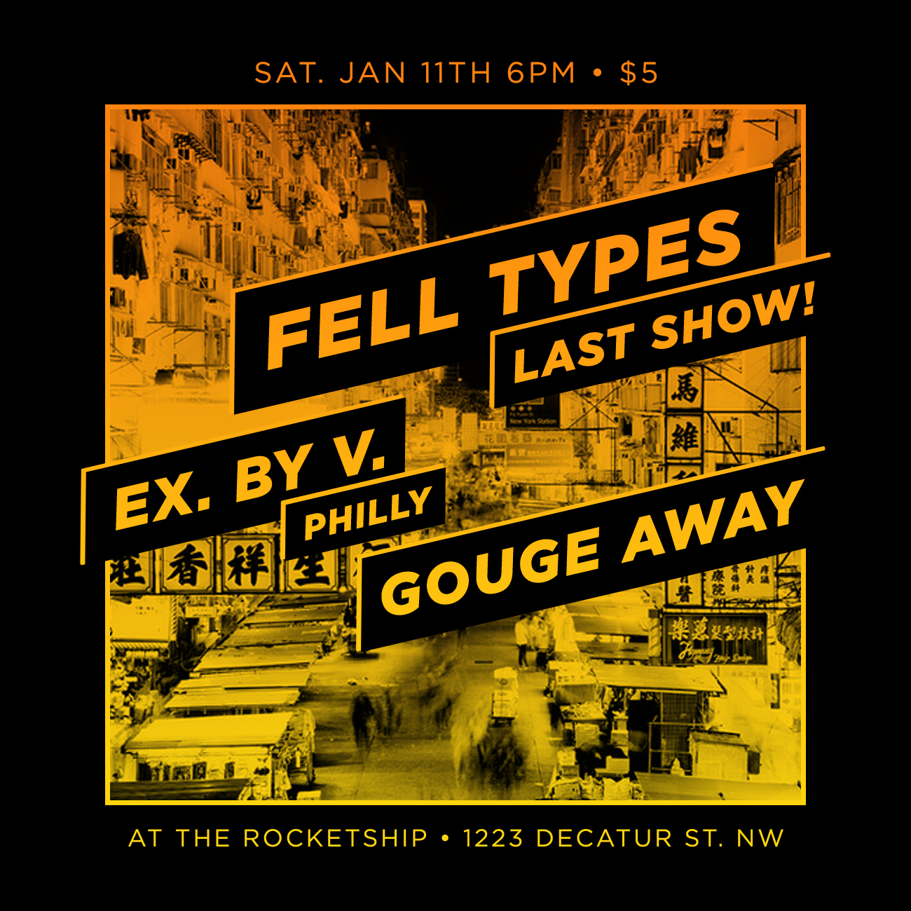 Fell Types show flyer