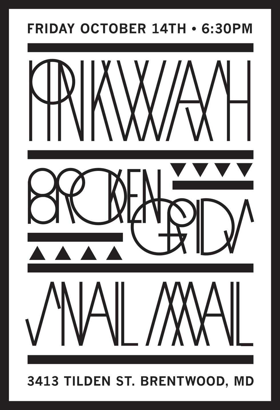 Pinkwash, Broken Grids, Snail Mail concert poster