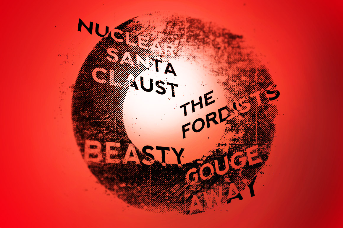 Nuclear Santa show flyer