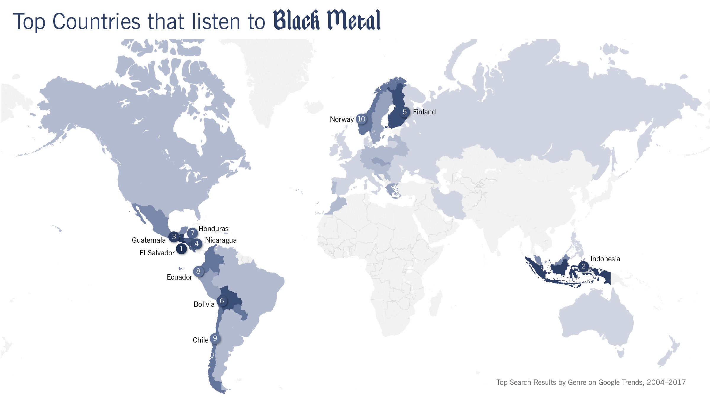 Black Metal Map
