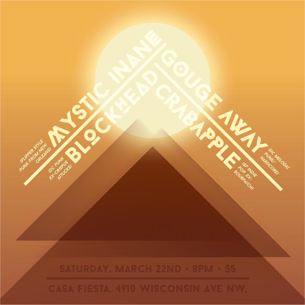 Mystic Inane show flyer