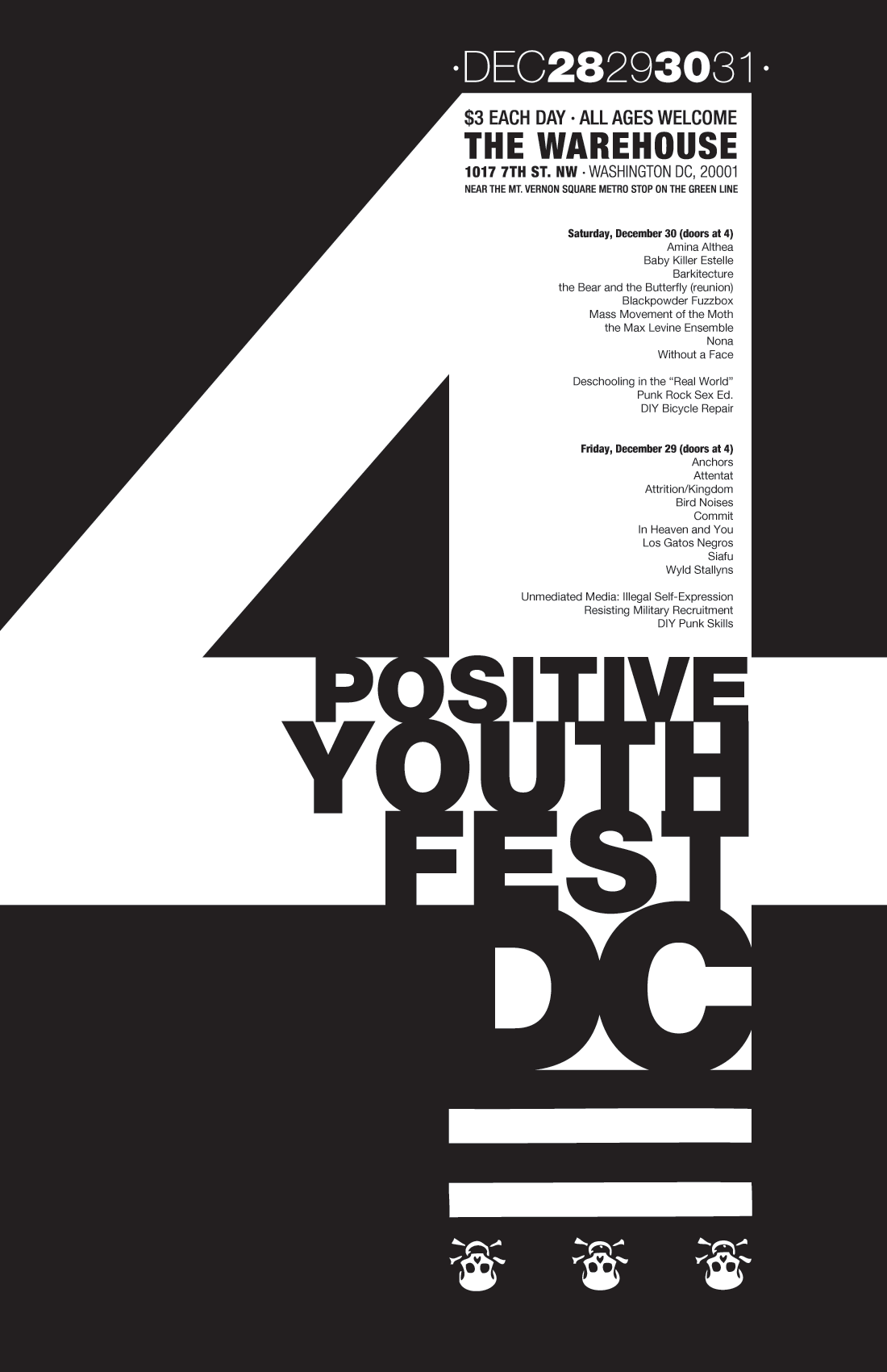 Positive Youth Fest 4 poster
