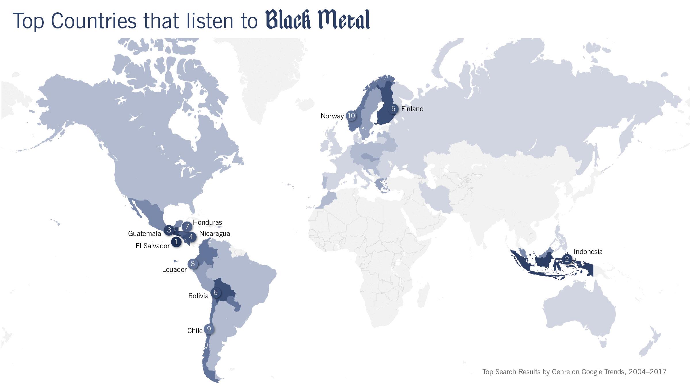 Black Metal Map
