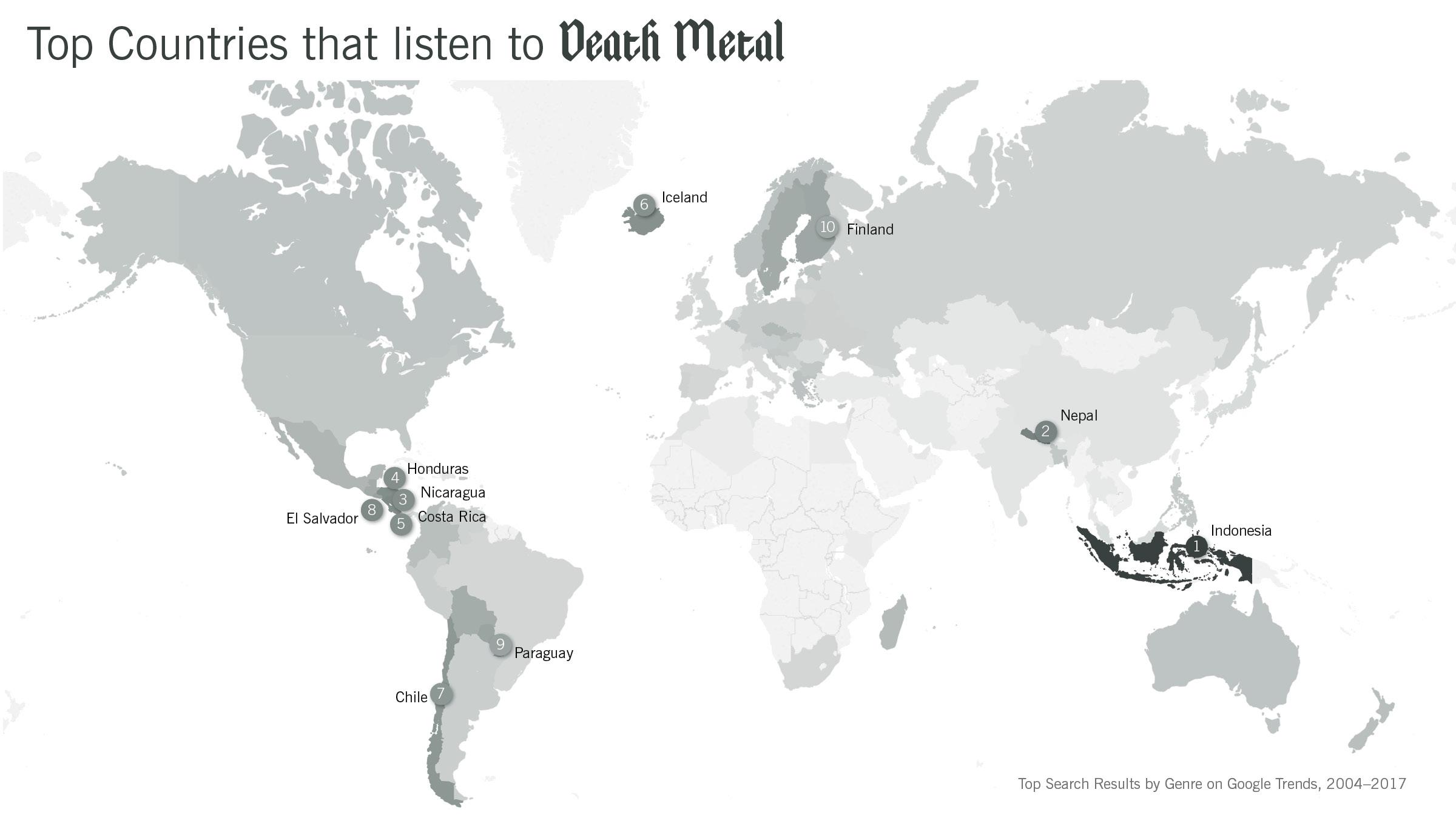 Death Metal Map
